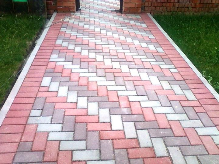 Дорожки из тротуарной плитки фото